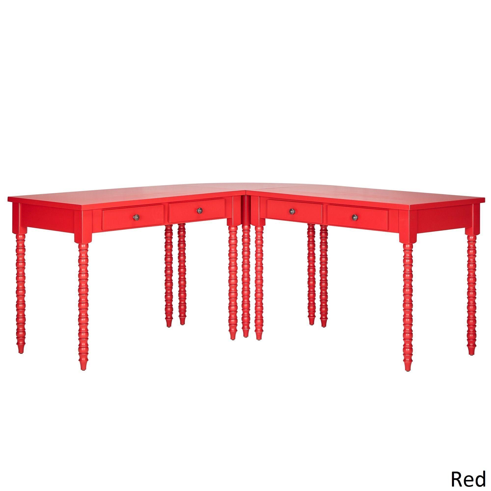 Inspire Q Lyndale L-Shaped Helix Legs Corner Office Desk