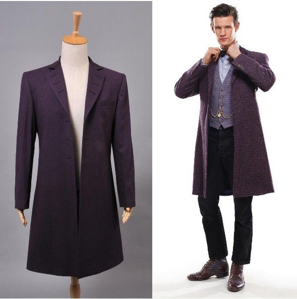 New Arrival Who is Doctor Eleventh 11th Dr. Purple Wool Frock Coat ...