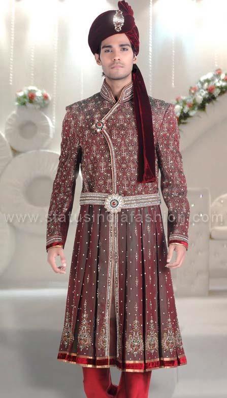 Mens Wear Groom Wedding Dress Sherwani Indo Western