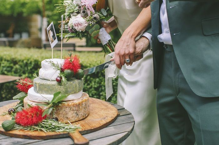 Cut the cheese wedding cake | i take you | #cheeseweddingcake