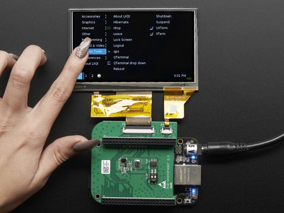 4 3 Lcd Capacitive Touchscreen Display Cape For Beaglebone Touch Screen Display Diy Electronics Arduino Projects