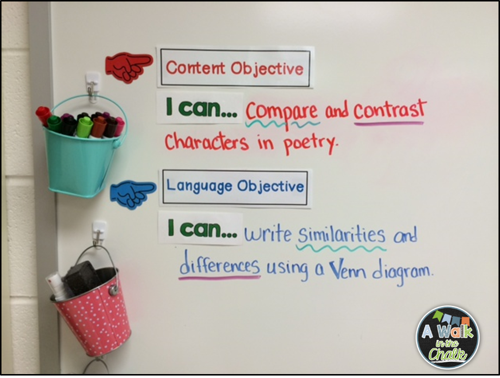 Display your learning objectives and I can