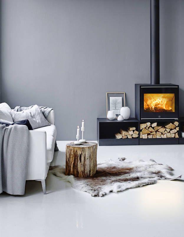 des petits po les bois et leurs accessoires elle d coration int rieur montagne chic. Black Bedroom Furniture Sets. Home Design Ideas