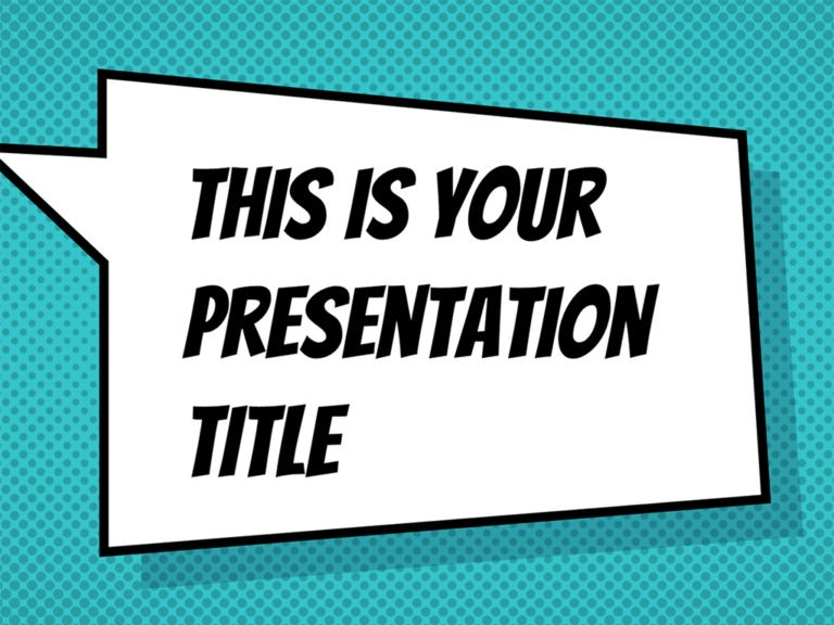 Free Fun With Comics Style Presentation Powerpoint Template Or Google Slides Theme Book Presentation Google Slides Themes Presentation Slides Templates