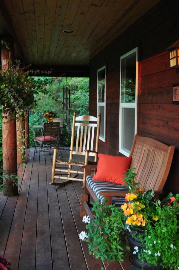 Veranda Selber Bauen amerikanische holzhäuser holz veranda selber bauen schaukelstuhl