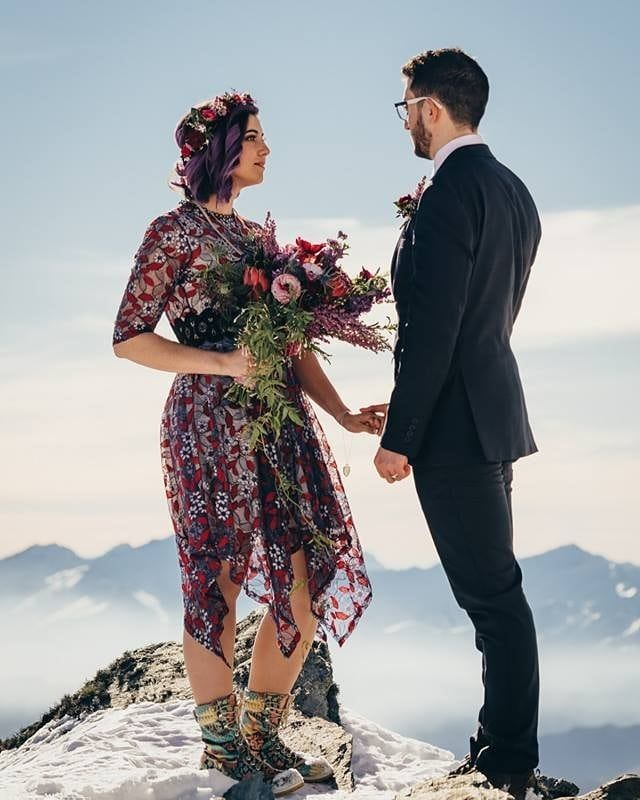 Wedding Flowers Queenstown New Zealand: This Dress Has Spring Written All Over It!⠀ Great Work By
