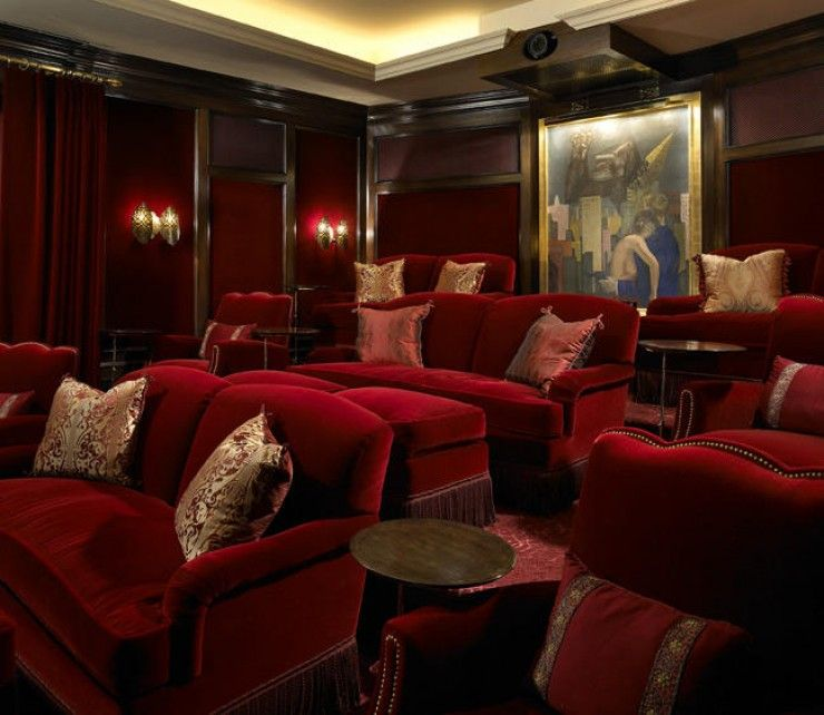 Luxurious Home Theatre Chicago Interior Design