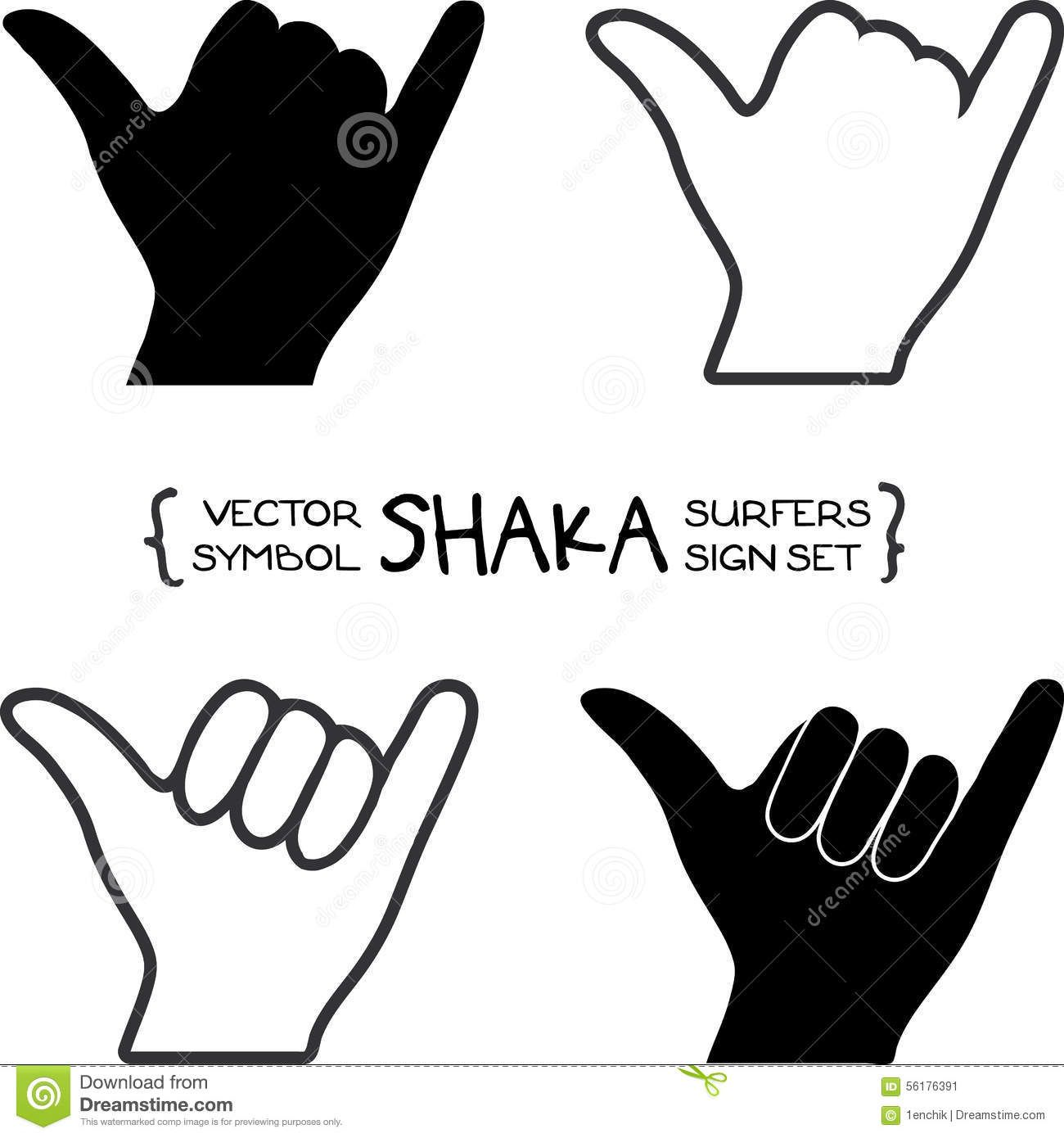 599b3dac6cc2 Vector Surfers Shaka Hand Sign - Download From Over 53 Million High ...