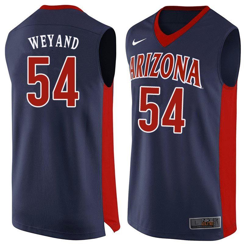 Men Arizona Wildcats 54 Matt Weyand College Basketball Jerseys Sale Navy College Basketball Jersey Basketball Jersey College Basketball Shirts