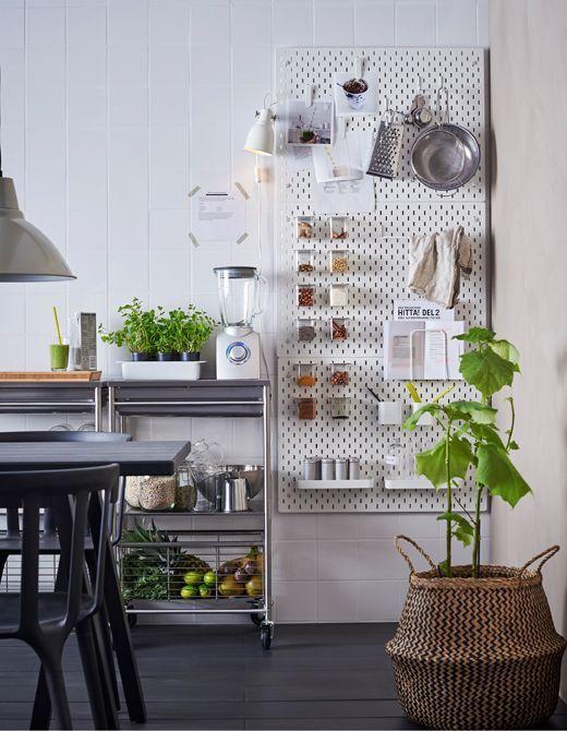 6 ideas con paneles perforados | Pinterest | Panel, Ikea y Cocina ikea