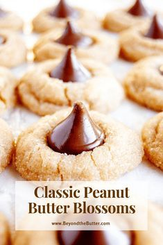 Classic Peanut Butter Blossoms - Beyond the Butter