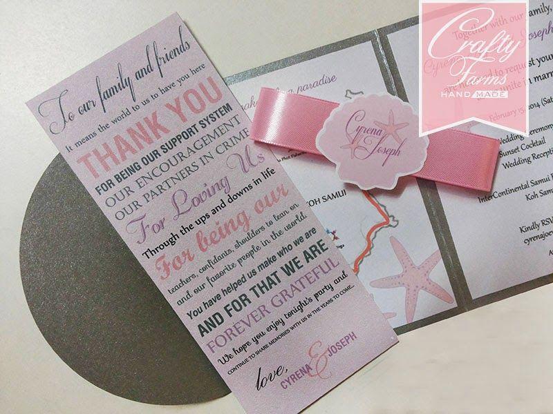 2 fold Wedding Card with Custom Cut out Seashell