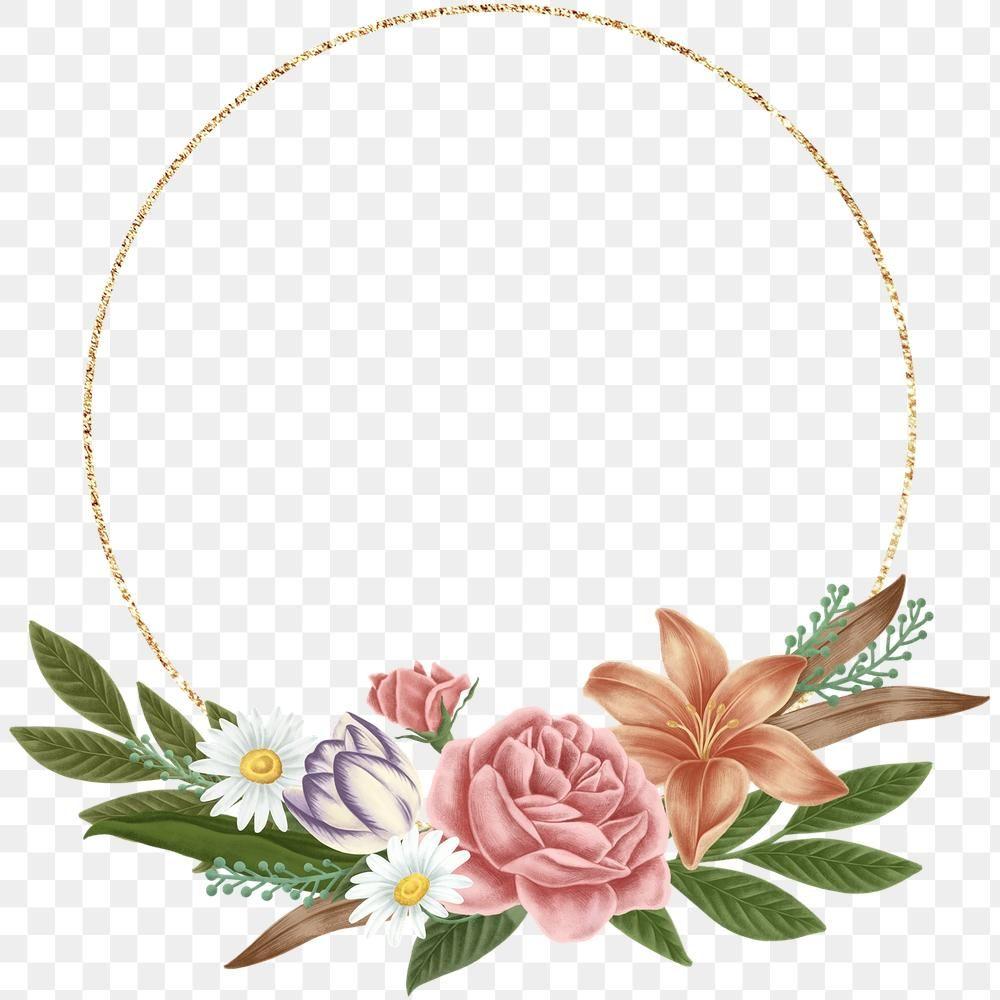 Floral Frame Template Design Transparent Png Premium Image By Rawpixel Com Noon Flower Frame Png Floral Vector Png Frame Template