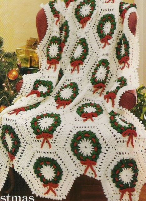 Christmas Crochet Blanket Free Pattern.Pin On Holiday Crochet