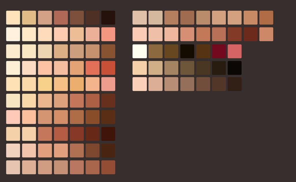 skin color palette - Google 검색