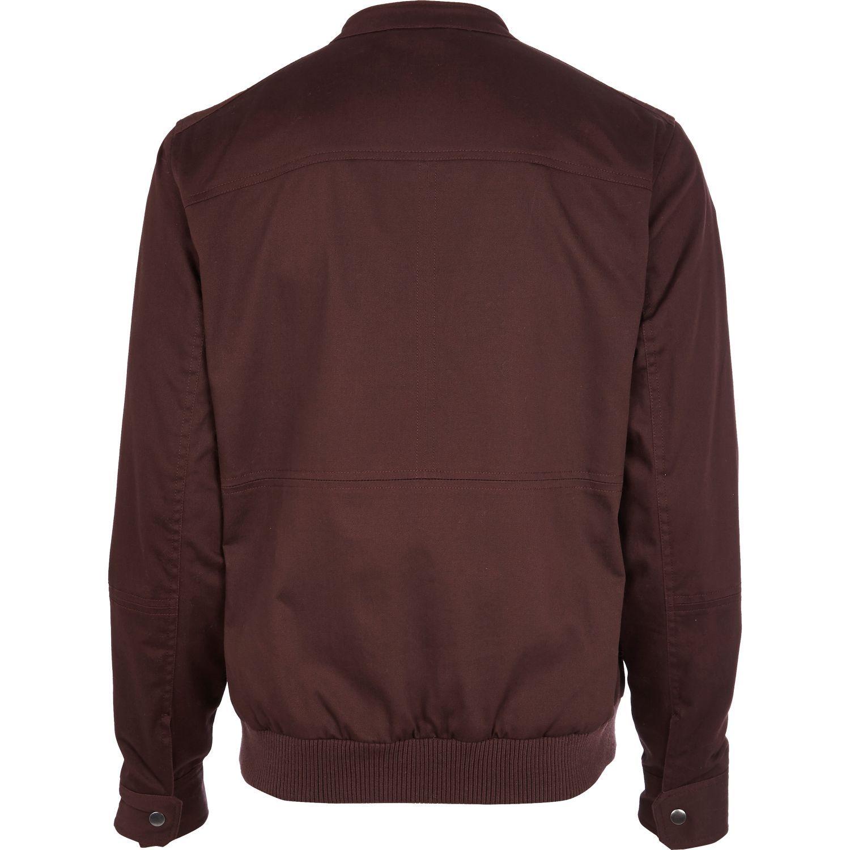 Dark red casual bomber jacket bomber jackets coats jackets
