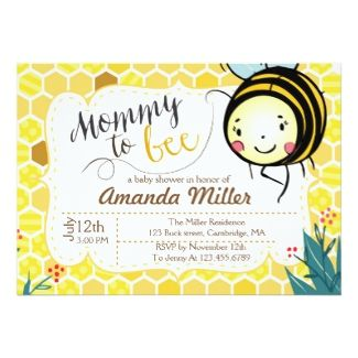 Mommy to bee invitation bee baby shower baby shower invitations mommy to bee invitation bee baby shower baby shower invitations tropical papers filmwisefo