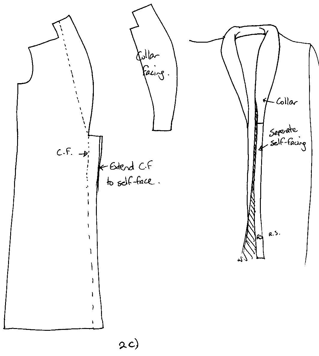 Drafting A Rolled Collar Pattern Collars Collar