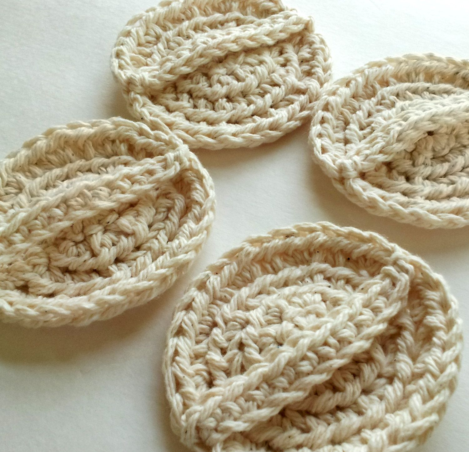 Face scrubbies set of 4 scrubbies with handle eco by silvashop ...