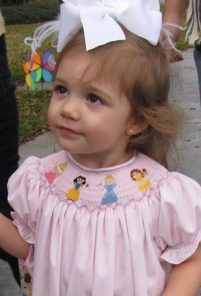 Smocked A Lot Princess Pink Gingham Dress Birthday Cinderella Belle Snow White