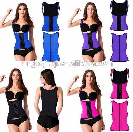 8b62a947d Women s Latex Waist Trainer Shapewear Workout Waist Cincher Vest ...
