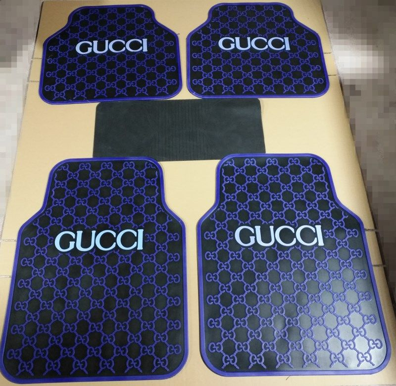 Vinyl Floor Mat Durable Soft And Easy To Clean Ideal: $155.32 Classic Gucci Universal Automotive Carpet Car