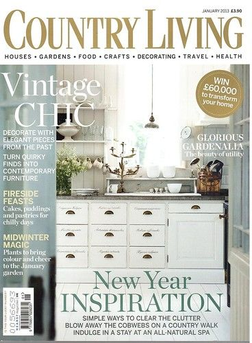 Country Living Uk Magazine January 2013 Country Living Uk Country Living Magazine Country Living