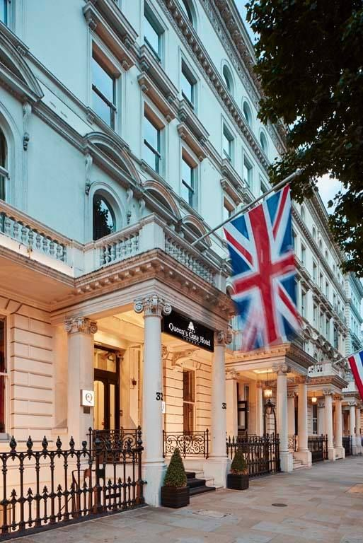 Queensgate Hotel Kensington Royal Design Architecture Uk British Flag Britain London