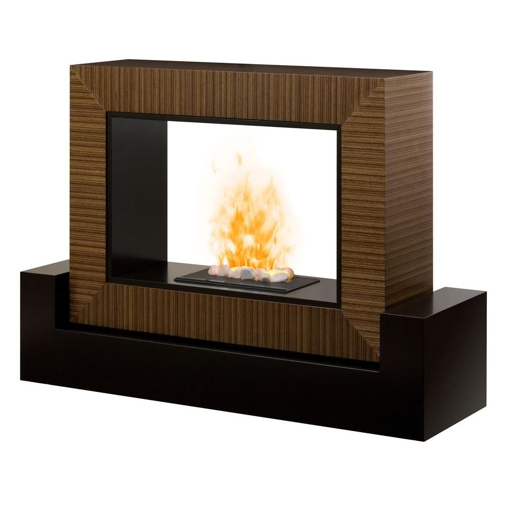Dimplex Amsden 56 In Electric Fireplace In Black And Cinnamon