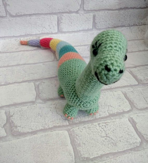Dionysus Crochet dinosaur PATTERN | Amigurumi | PDF instant download | diplodocus | soft toy | UK no #crochetdinosaurpatterns