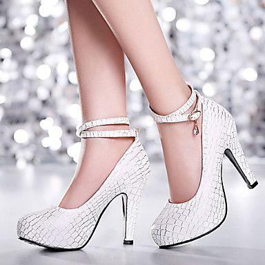 Shoes For Women Heel Heels Platform Heels Office Career Dress Casual Blue Pink White 725-1