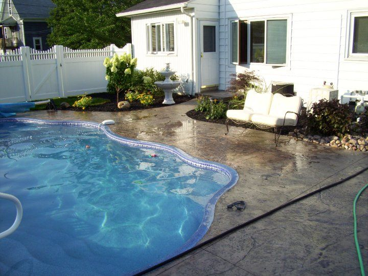 Nu Crete Can Make Your Backyard Feel Like An Oasis With Our Decorative Concrete  Pool Decks. Our Stamped Concrete Pool Decks Will Make Your Pool Unique.