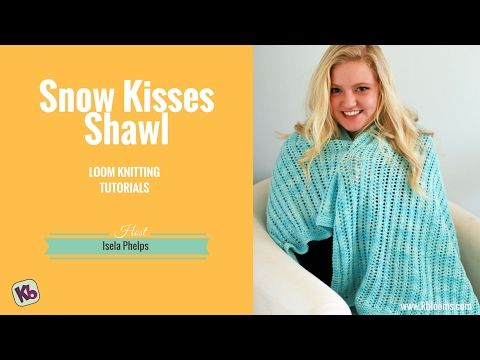 knitting loom : drop stitch poncho, english language - YouTube ...