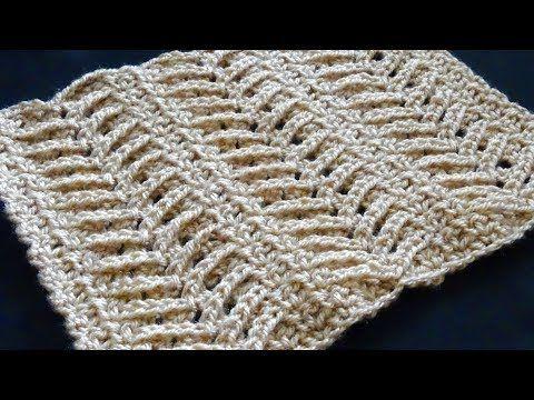 Tunisian crochet tutorial Английская резинка Тунисское вязание Узор ...