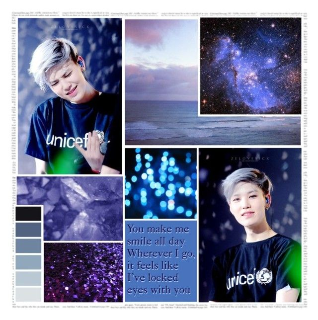 """""""You make me smile all day. Wherever I go, it feels like I've locked eyes with you-Zelo