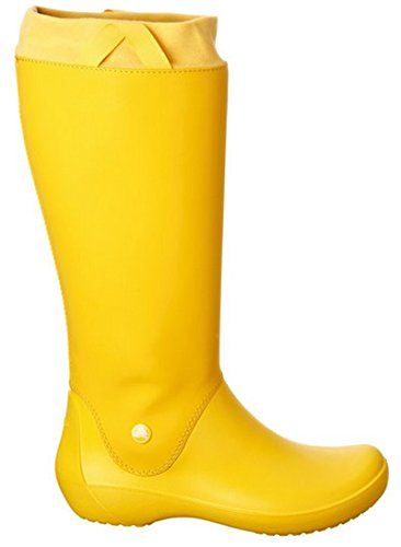 Crocs Rainfloe Welly Boot  YellowYellow  UK7 US W9 -- To view further for this item, visit the image link.