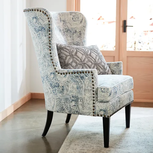 Pin By Anna Harrison Arnsdorff On House Of Lenzer Accent Chairs For Living Room Patterned Chair Living Room Upholstery Fabric For Chairs