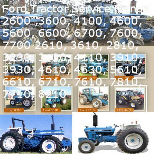 Ford Tractor 2600 thru 7700, 2610 thru 7710, 3230 thru 4630, 8210 Service  Manual | eBay | Ford tractors, Tractors, FordPinterest
