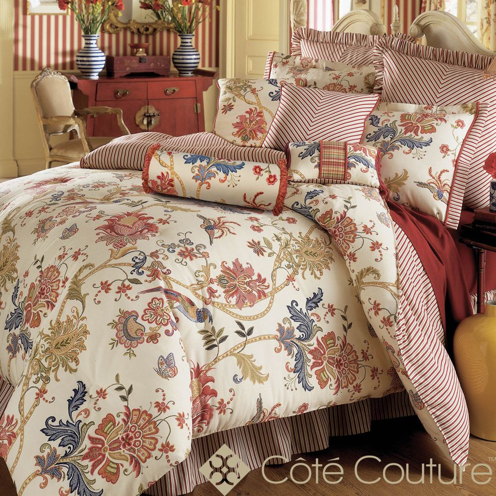 Jacobean Floral 6 Piece Cotton Comforter Set Overstock