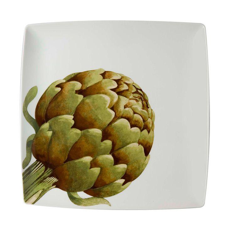 vegetables charger plate artichoke cositas. Black Bedroom Furniture Sets. Home Design Ideas