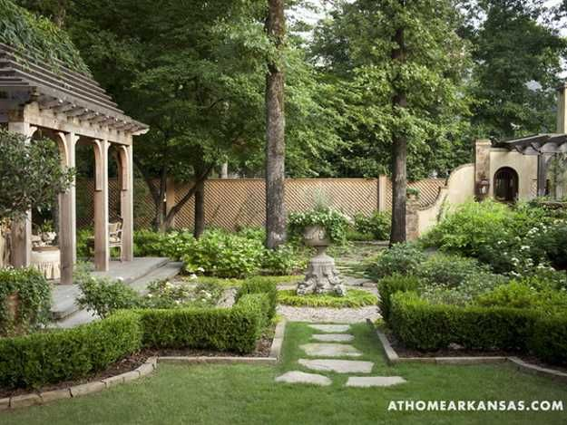 Beautiful Backyard Ideas And Garden Design Blending Classic English French Styles