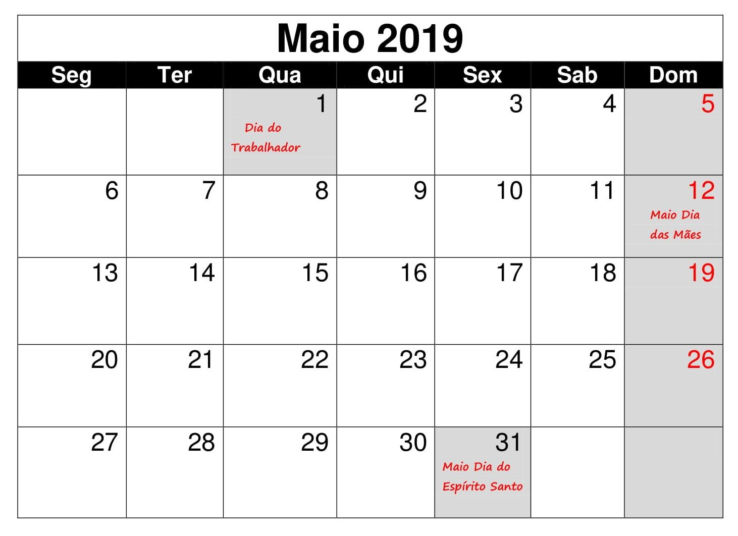 Strange Maio Calendario Vertical 2019 Calendario Maio 2019 Blank Beutiful Home Inspiration Truamahrainfo