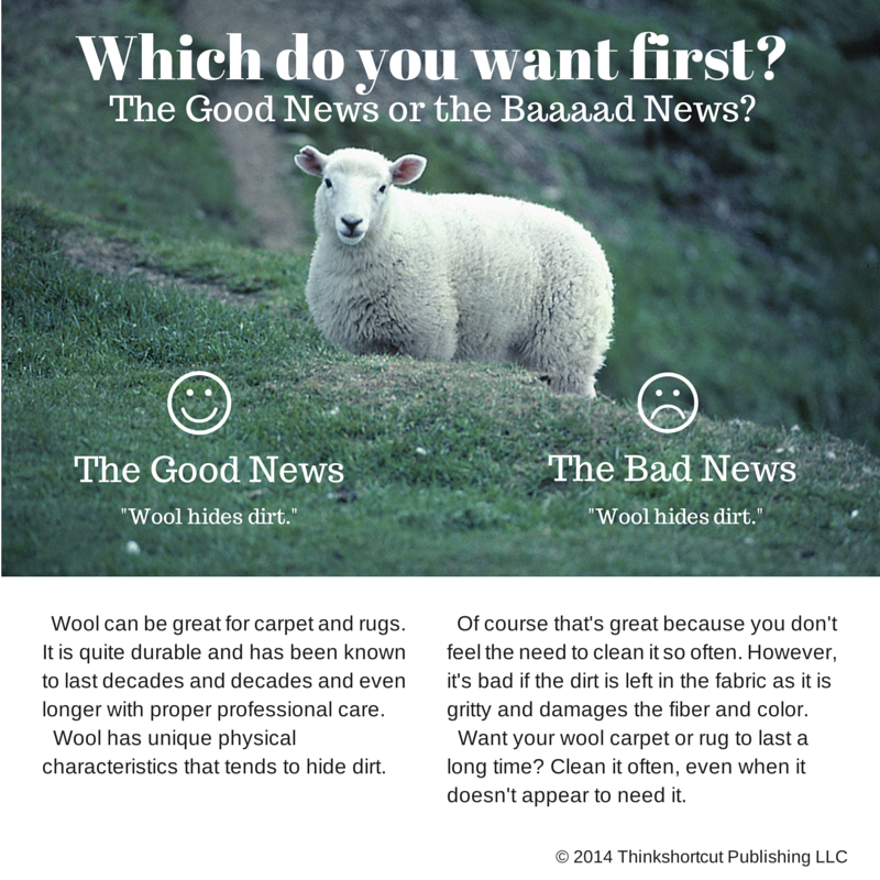 The Good And Bad News About Wool Pinnacle Eco Clean Of Rochester Ny Bad News How To Clean Carpet Good Things