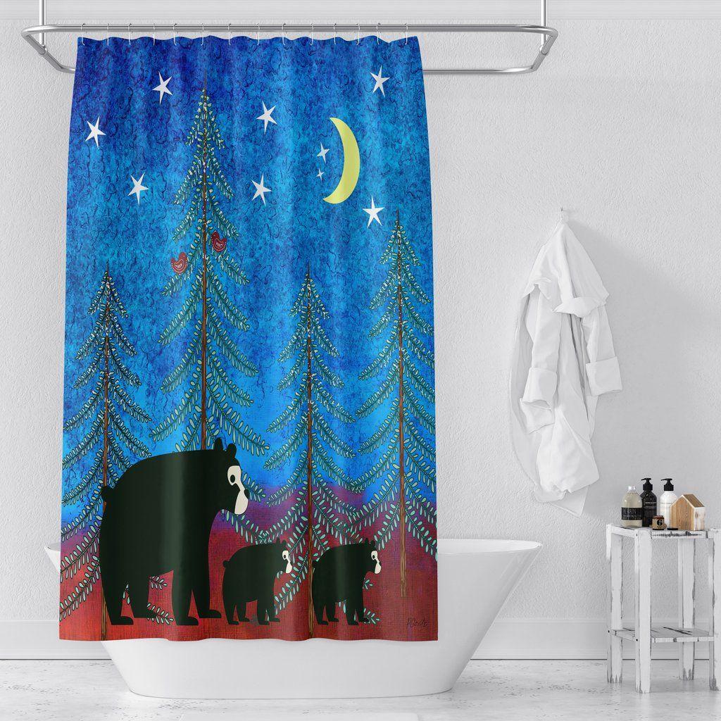 Bear Shower Curtain Chic Bathroom Decor Chic Bathrooms Curtains