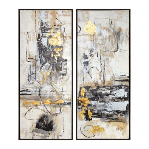 Uttermost Life Scenes Abstract Art, Set of Two | Living room ...