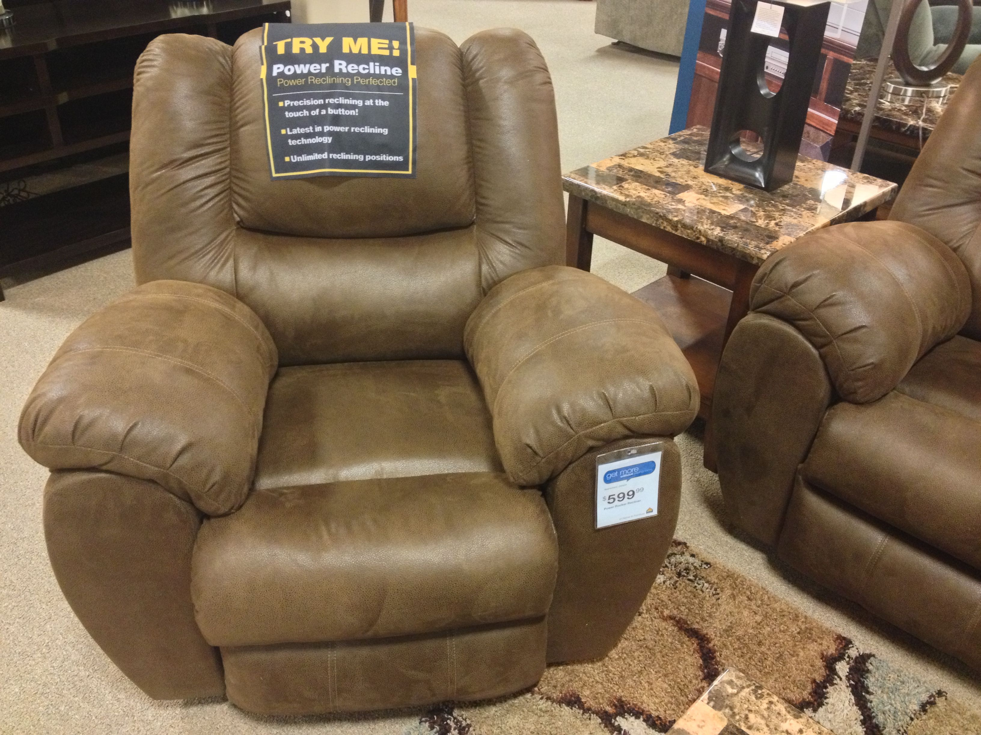 Quarterback Canyon Power Rocker Recliner Chair At Your Ashley