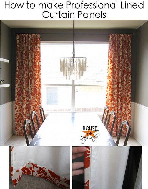 Tutorial para costura de uma cortina.