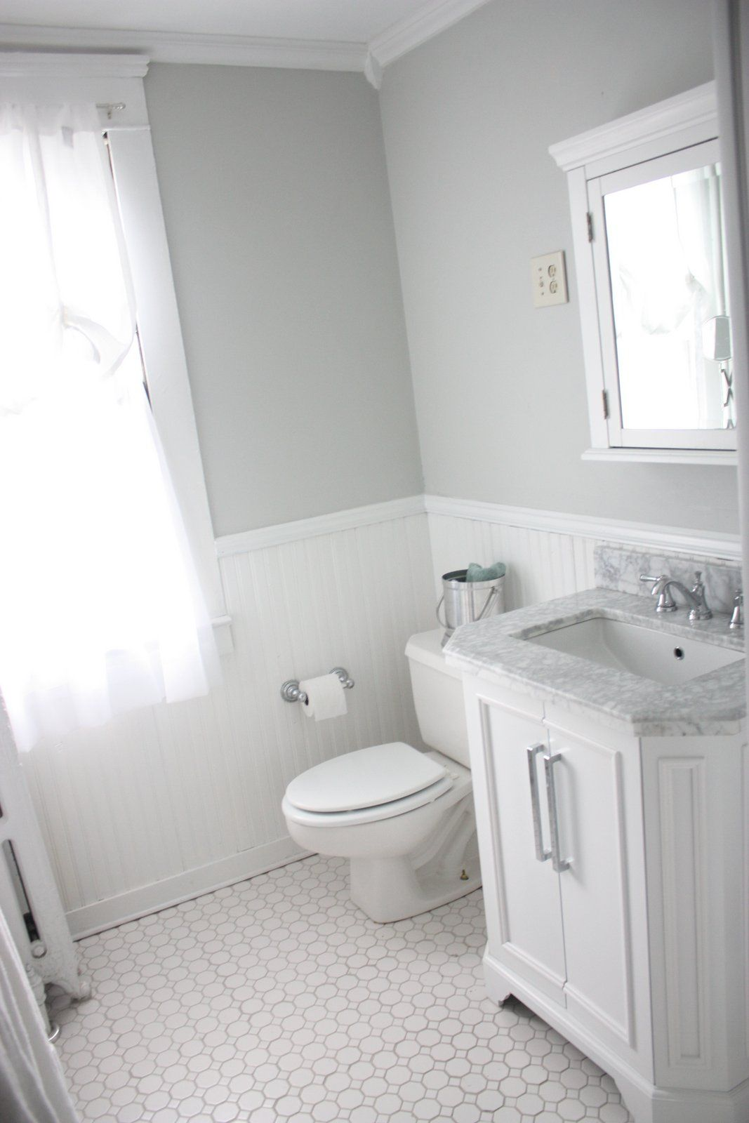 Bathroom Paint Ideas Lowes : White carrara bath vanity with top lowes american olean