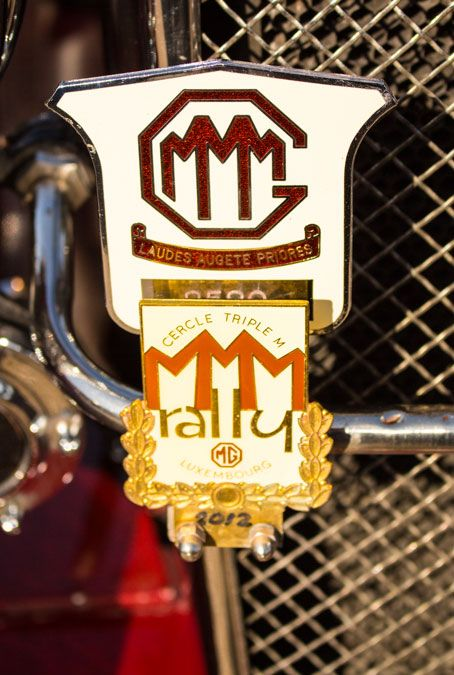 Mmm Rally Badge Cercle Triple M Midget Magnette Magna And