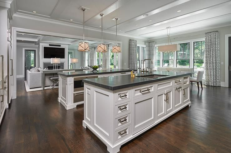 Best Beautiful Kitchen Features Two Kitchen Islands One Island 400 x 300